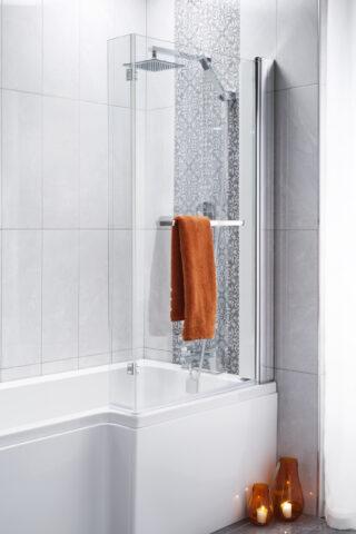 Square bathscreen P Shaped Bath